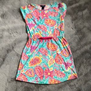 Girls Chaps Floral Casual Dress Size M (10-12)